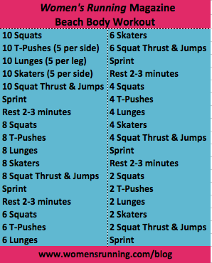 Beach Body Workout – Women's Running