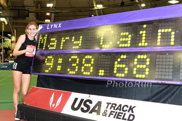 Mary Cain becomes the fastest high school girls 2-miler of all-time in 2013.
