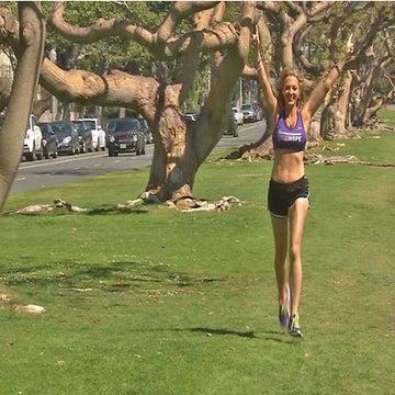 Coach proposes to Marathon Goddess Julie Weiss at LA Marathon