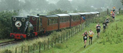 Wear trail running shoes and take it easy on the way out because the return trip is when the course gets rough.