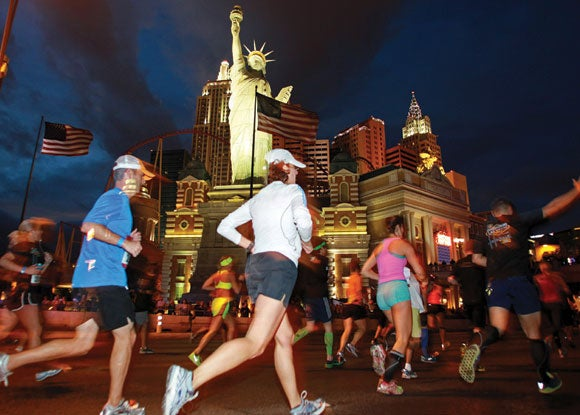 Running is probably the healthiest way to take in the Strip and experience old Las Vegas.
