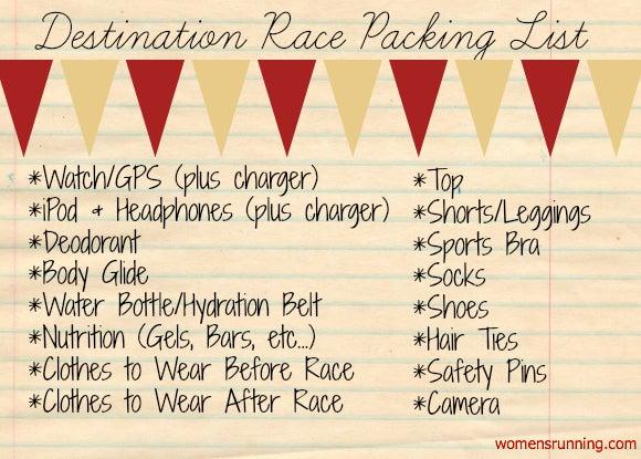 Destination-Race-Packing-List