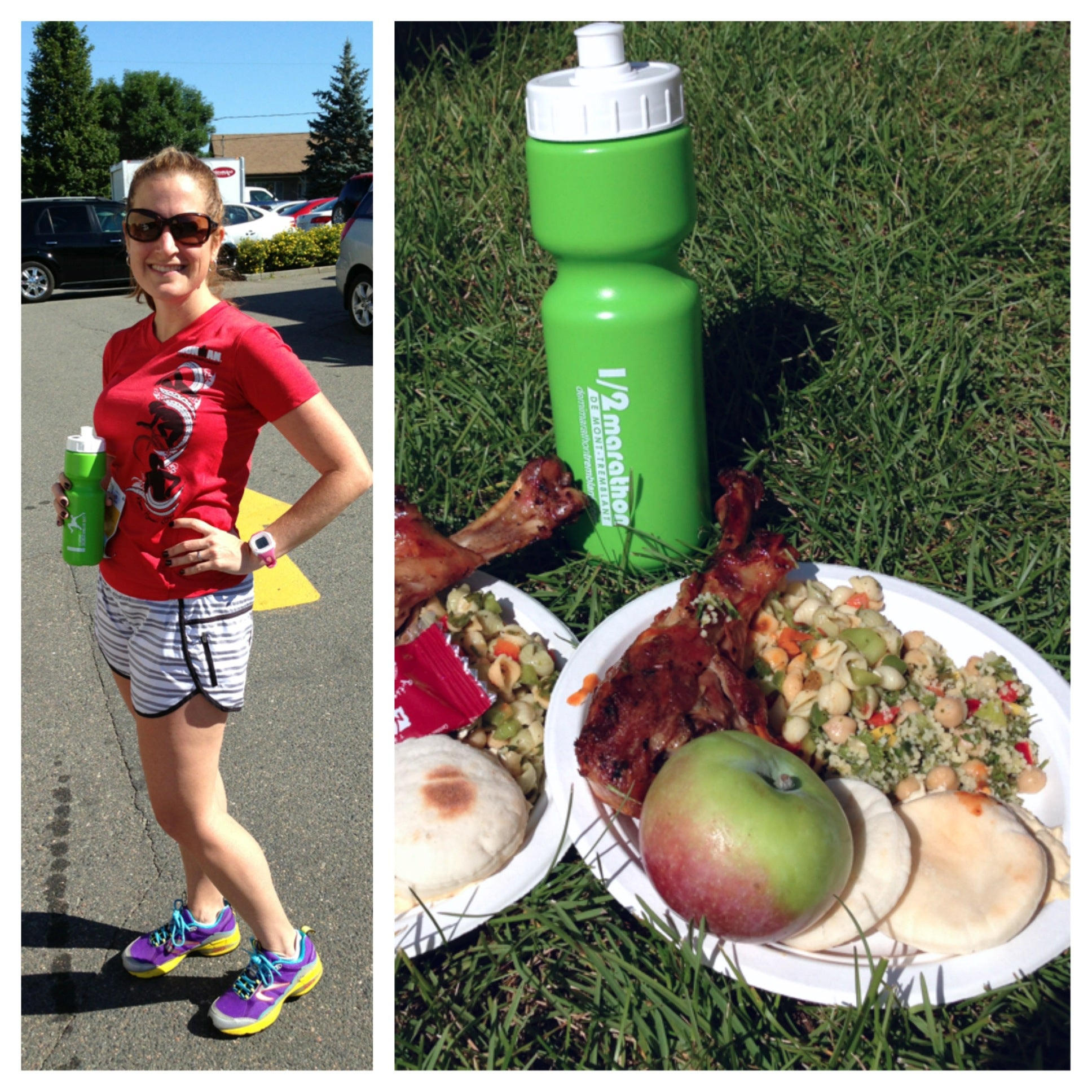 Who wouldn't smile after an amazing race with this post-race fuel?