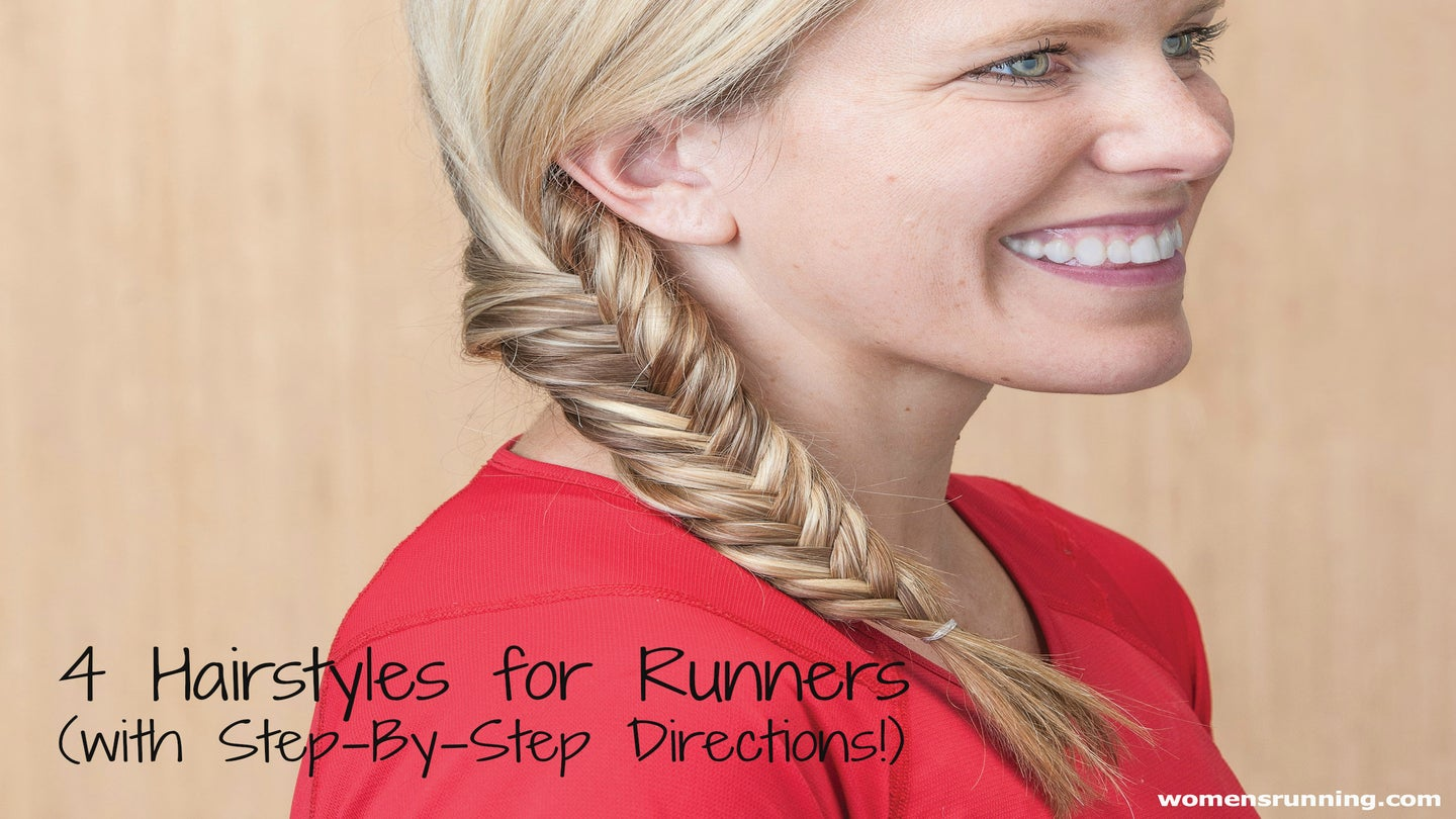 4 Hairstyles For Runners (with Step-By-Step Directions)! – Women s ... f2d4ec9117
