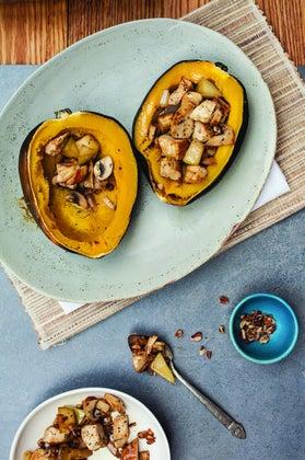 autumn stuffed acorn squash