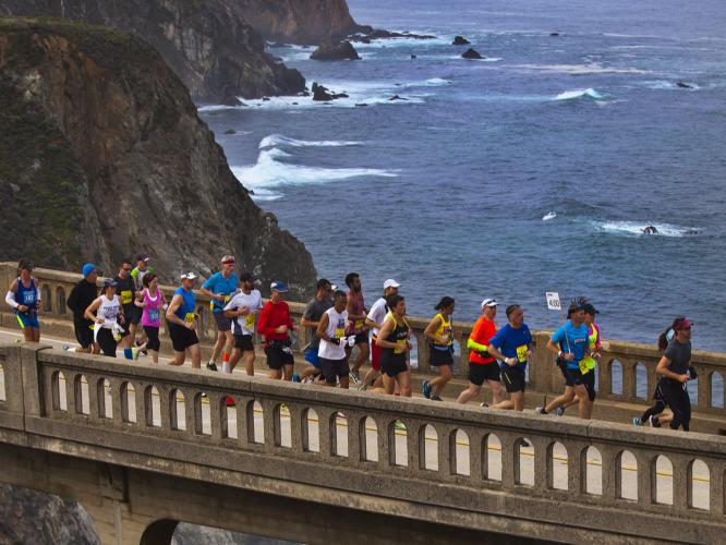 Gorgeous coastline views await during the marathon.