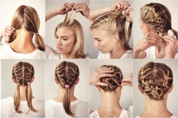 Race Day Do With A Double French Braid