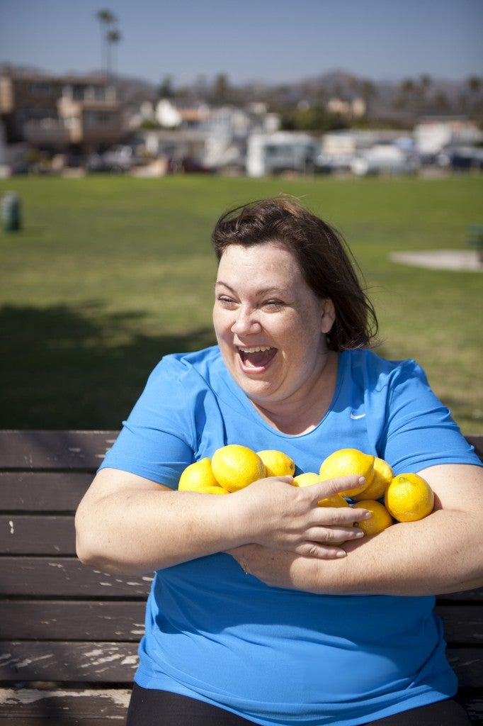 Check out her lemon workout at TheFatChick.com.