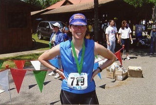 Nicki Miller after a triathlon in North Carolina.