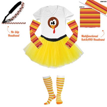 Who DOESN'T Want Turkey-Themed Knee-High Socks This Thursday?