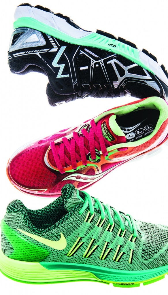 361 Spire, Saucony Kinvara 4, and Nike Air Zoom Odyssey