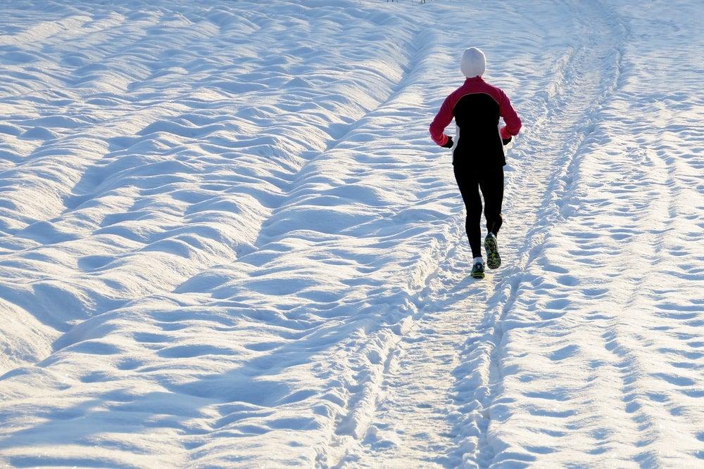 Winter Runner Running