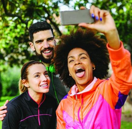 mid-run selfie