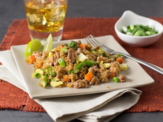 pork fried quinoa dinner ideas