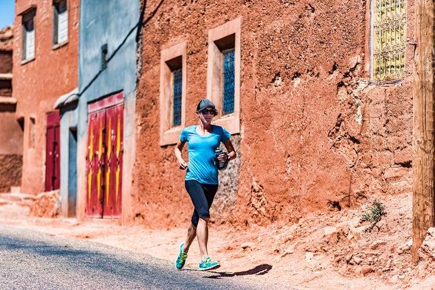 Allison running thru village