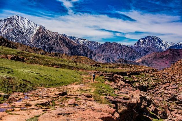 Megan running High Atlas trail