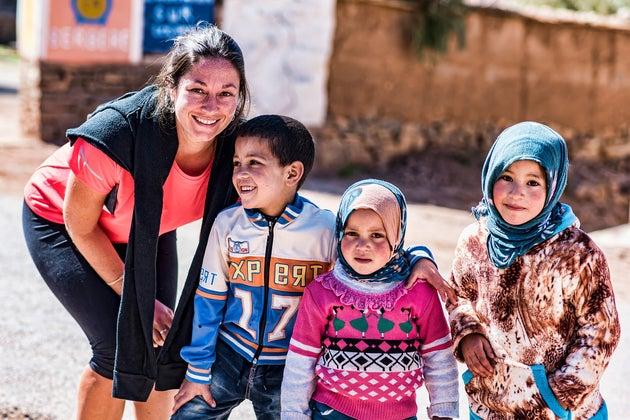 Megan w Berber kids