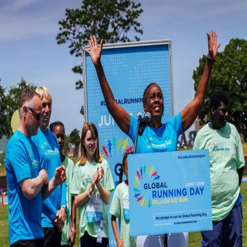 A Familiar Face Celebrated Global Running Day With NYRR