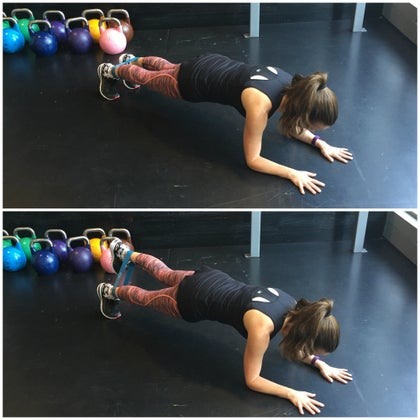 Plank Leg Lifts with Mini Band