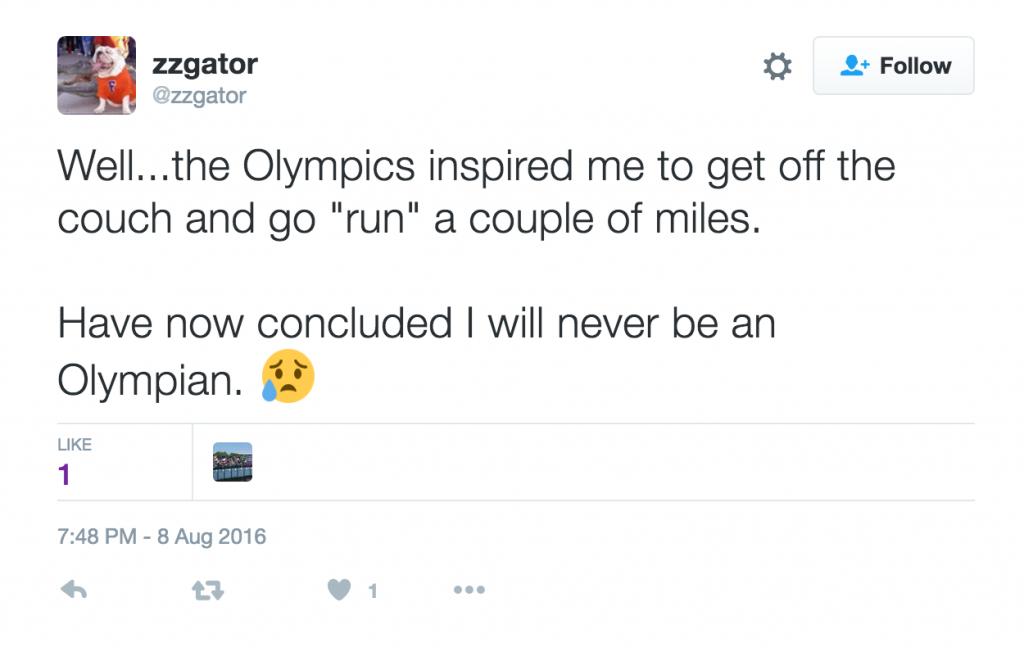 Never Be an Olympian