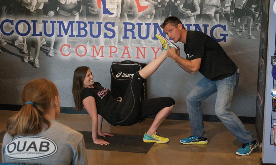 Self-defense class at the Columbus Running Company