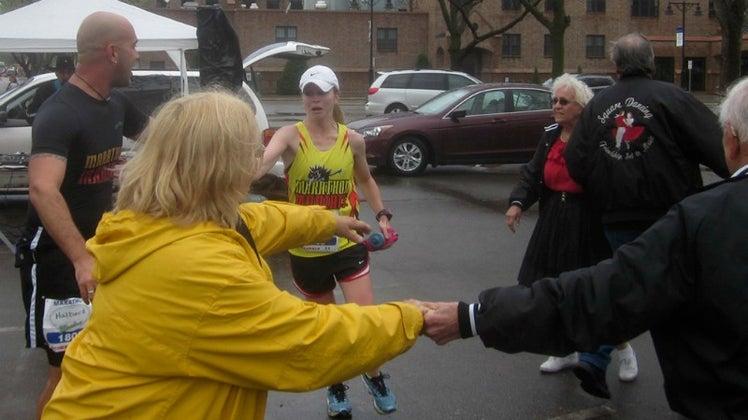 Danielle at the Fargo Marathon