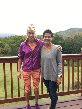 Sheri and the author at the Rise.Run.Retreat this October.