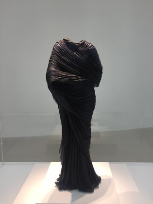 This dress is made completely of glass!