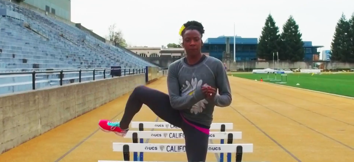 Olympian Alysia Montaño Demonstrates Hurdle Drills For Those Hips