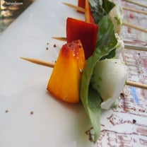 Peach And Mozzarella Skewers Are This Summer's Appetizer Of Choice