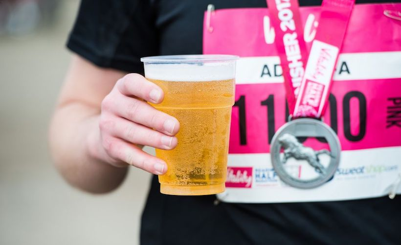 a breakdown of that post race beer and how alcohol affects running