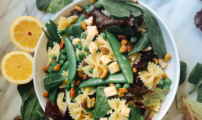 A Protein-Packed Spring Pea Pasta Salad Recipe