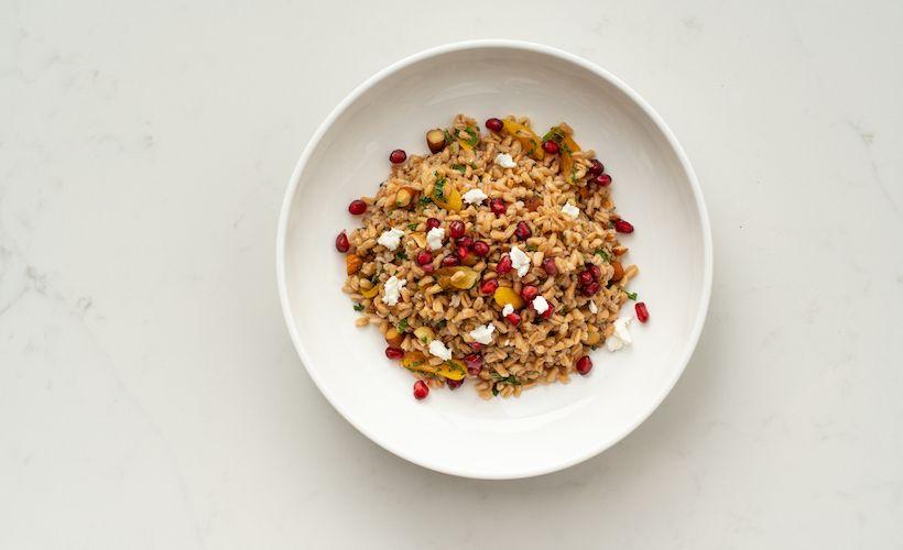 Apricot, Almond, Mint And Farro Salad Recipe