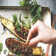 Recipe: Stuffed Eggplant With Bulgur, Walnuts And Mint