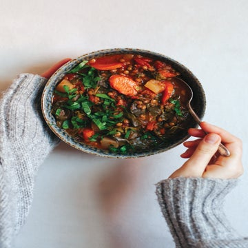 Lentil Tomato Stew With Turnips And Collard Greens Recipe