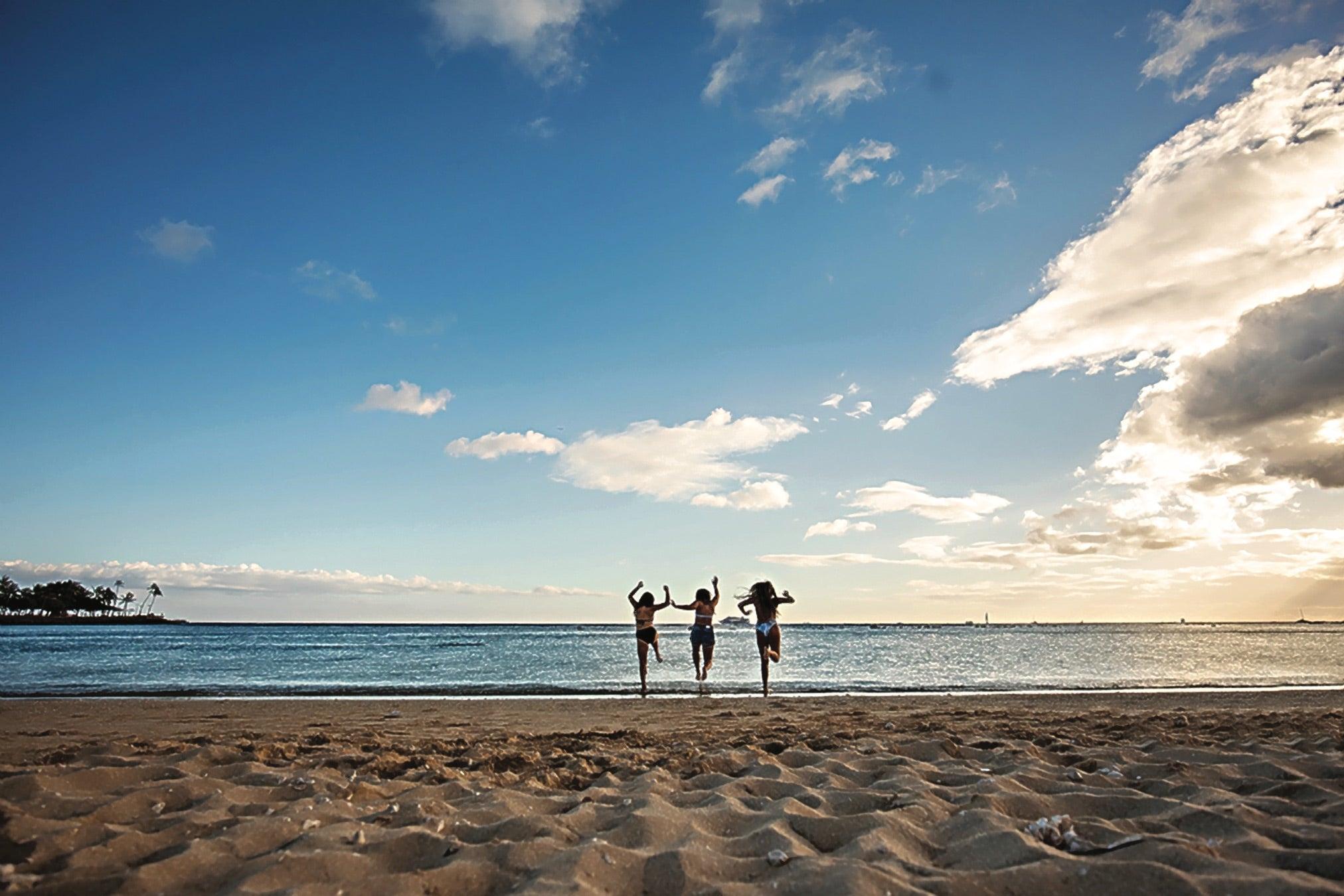 Hit up Ala Moana Beach for some training.