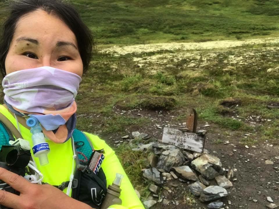 During her first ultrarunning experience, Seppilu ran to Resurrection Pass in Alaska.