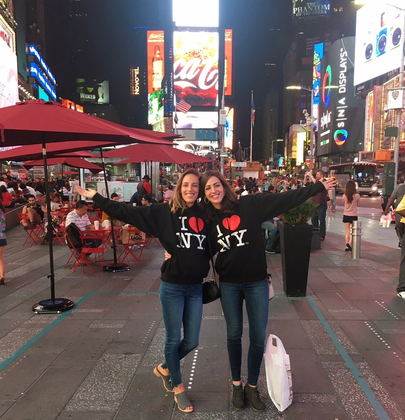 Gabriele Grunewald and her sister, Abby Anderson, spent time together in New York during Grunewald's cancer treatments.