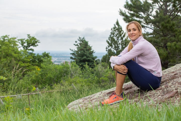 Kara Goucher runs on the trails near her Boulder, Colorado home. Her former coach Alberto Salazar has received a four-year ban from the sport due, in part, from her role as a whistleblower.