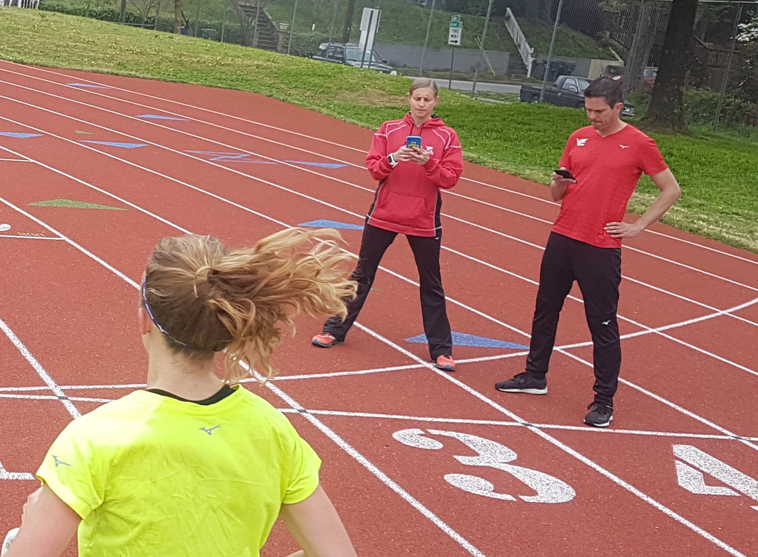 Amy and Andrew Begley coach the Atlanta Track Club, using their past experiences to inform their strategies.
