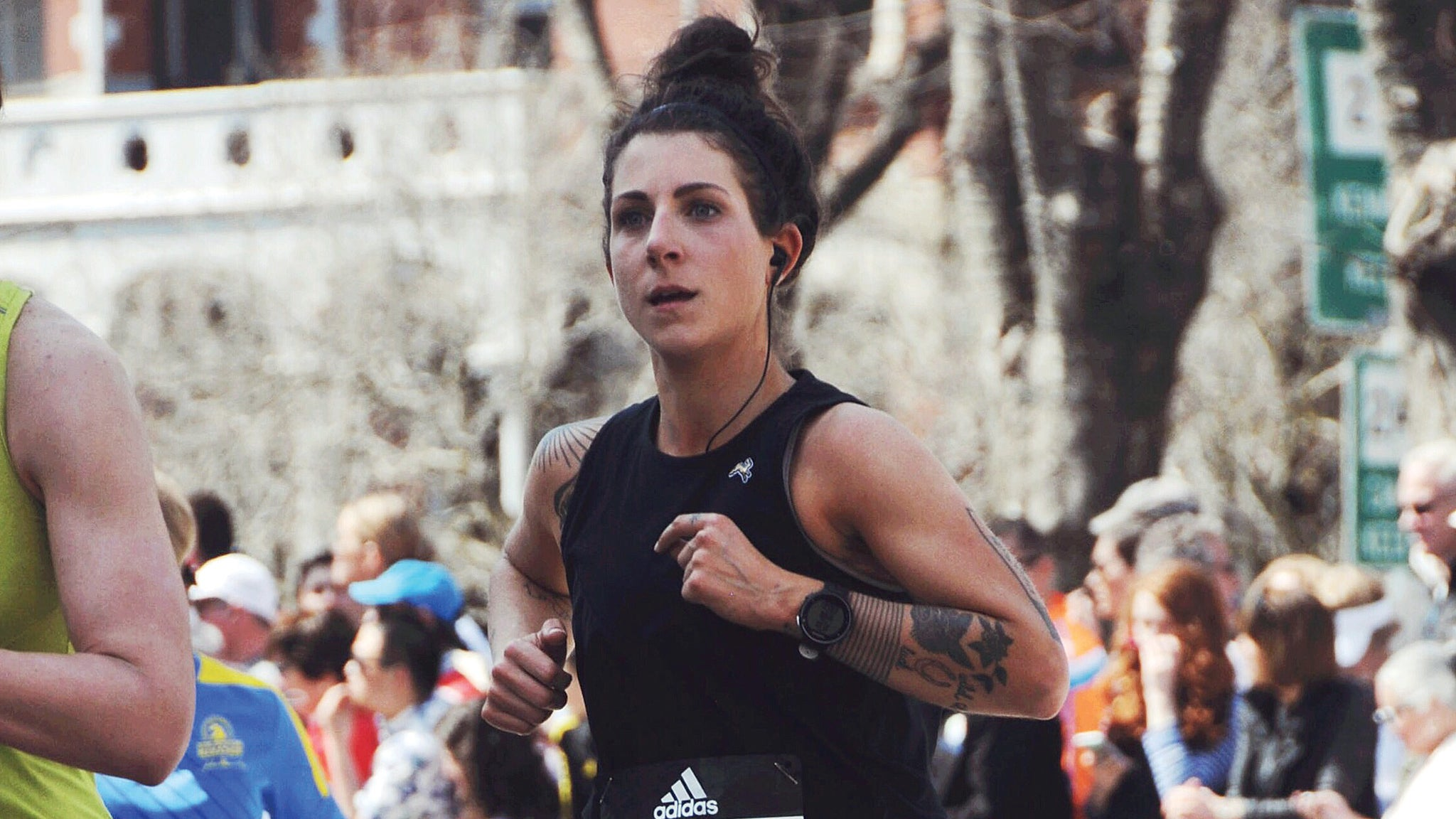 Alice runs in the Boston Marathon