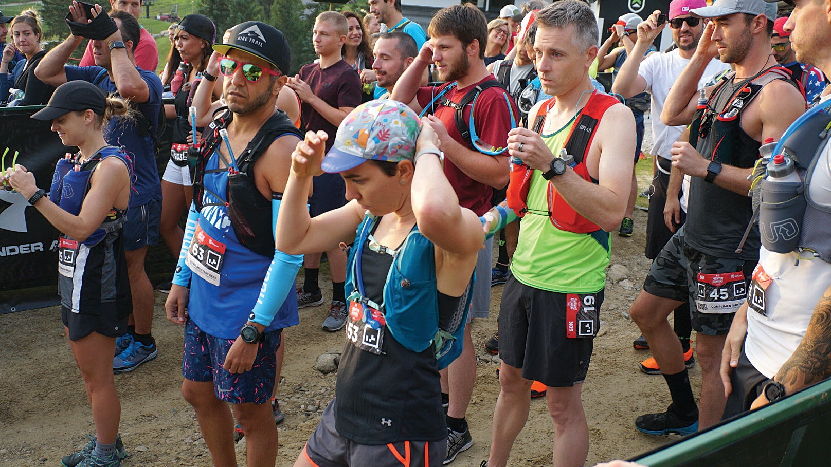 Molly Hurford in the starting corral of a 50K race