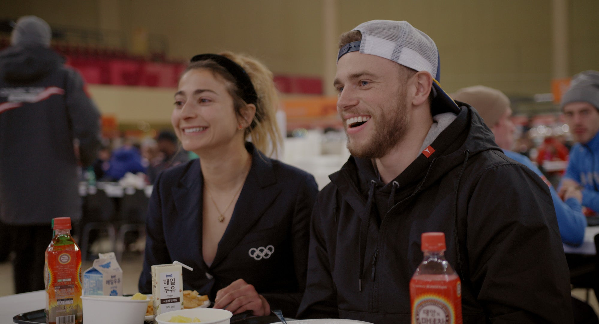 Alexi Pappas and Gus Kenworthy
