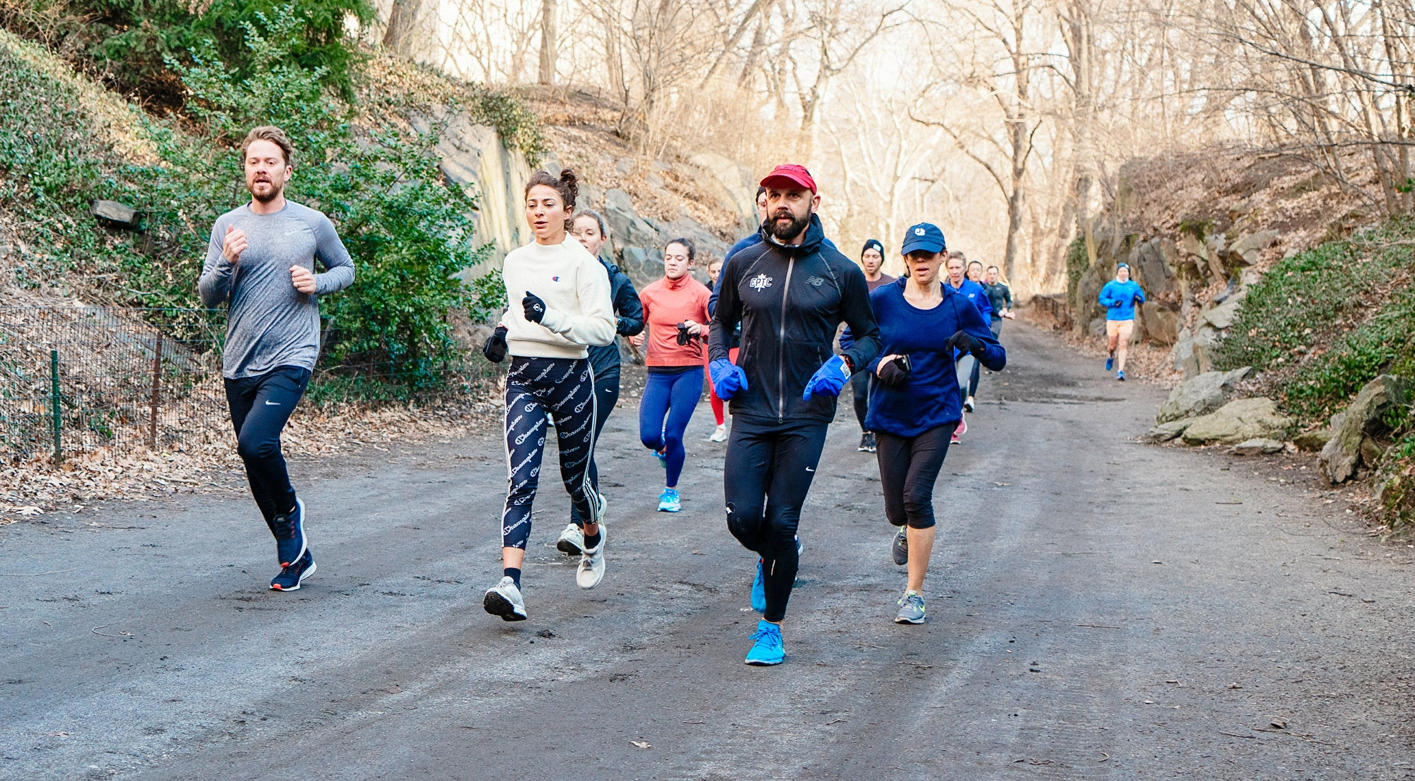 Mary Cain and Alexi Pappas on a group run with NYRR