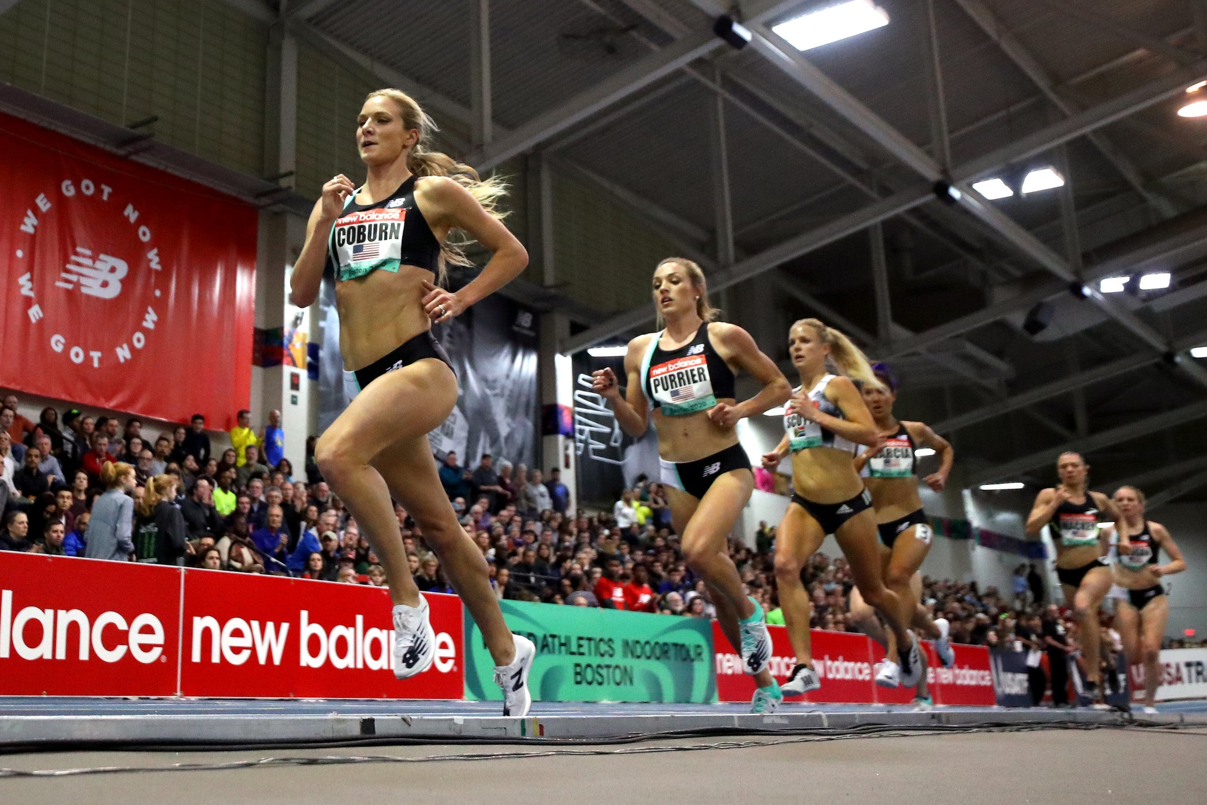 Emma Coburn in one of her last races before the pandemic