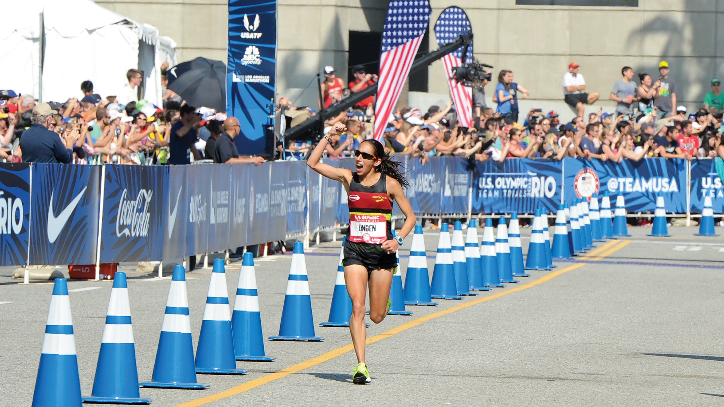 Des Linden at 2016 Olympic Team Trials Marathon