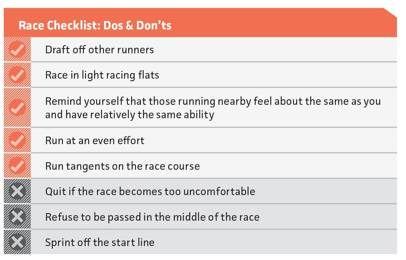 5k racing guidelines