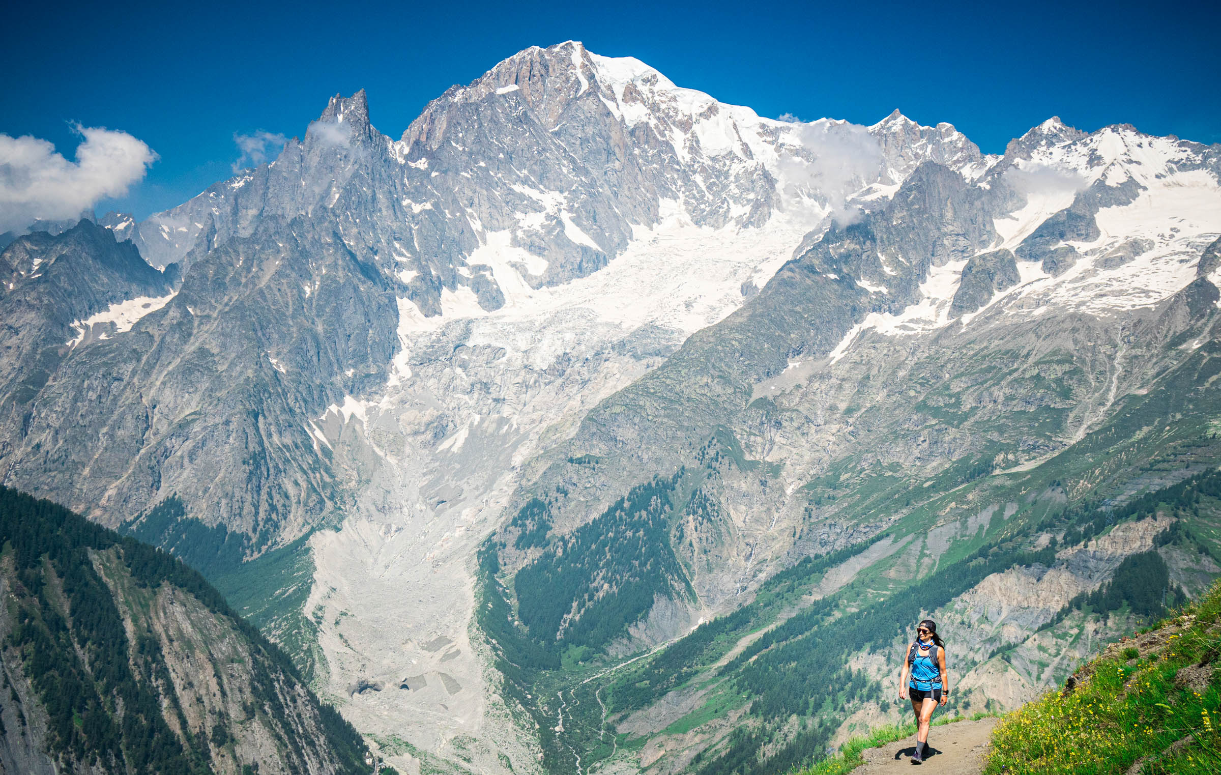 Jen Ator hiking in mountains