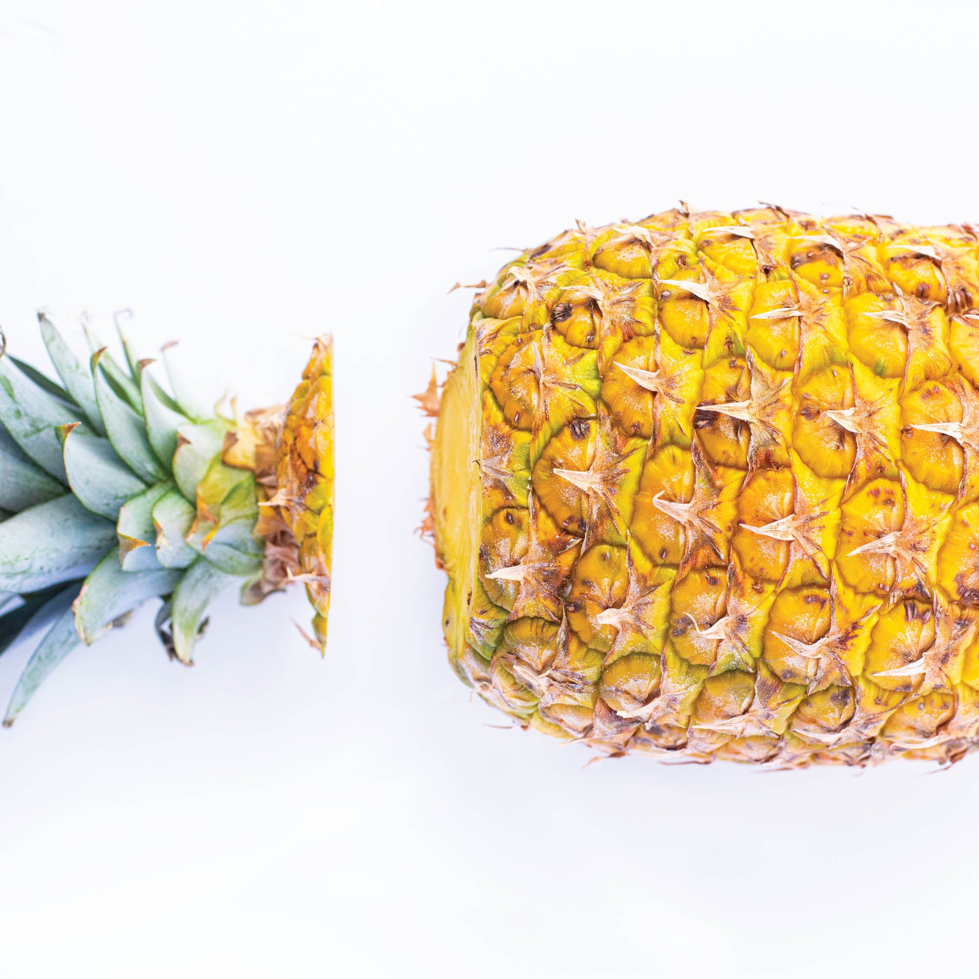 Pineapple with top cut off