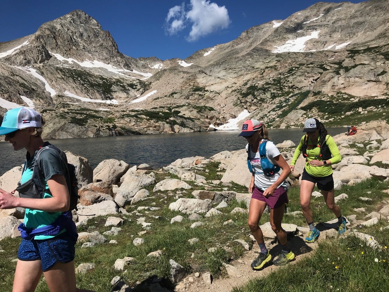 Mountain running during a camping trip